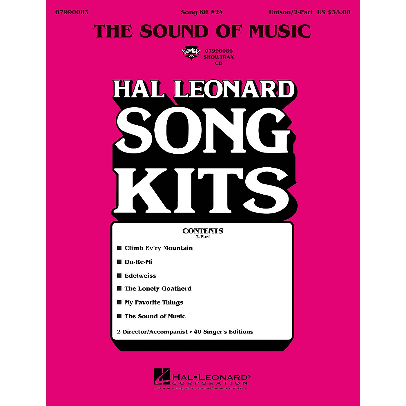 Hal Leonard The Sound of Music (Song Kit #24) ShowTrax CD Arranged by Dick Averre thumbnail