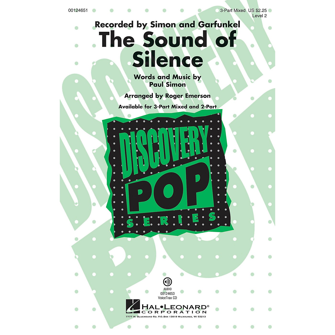Hal Leonard The Sound of Silence (Discovery Level 2) 3-Part Mixed by Paul Simon arranged by Roger Emerson thumbnail