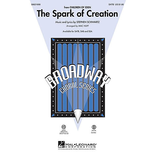 Hal Leonard The Spark of Creation (from Children of Eden) SATB arranged by Mac Huff thumbnail