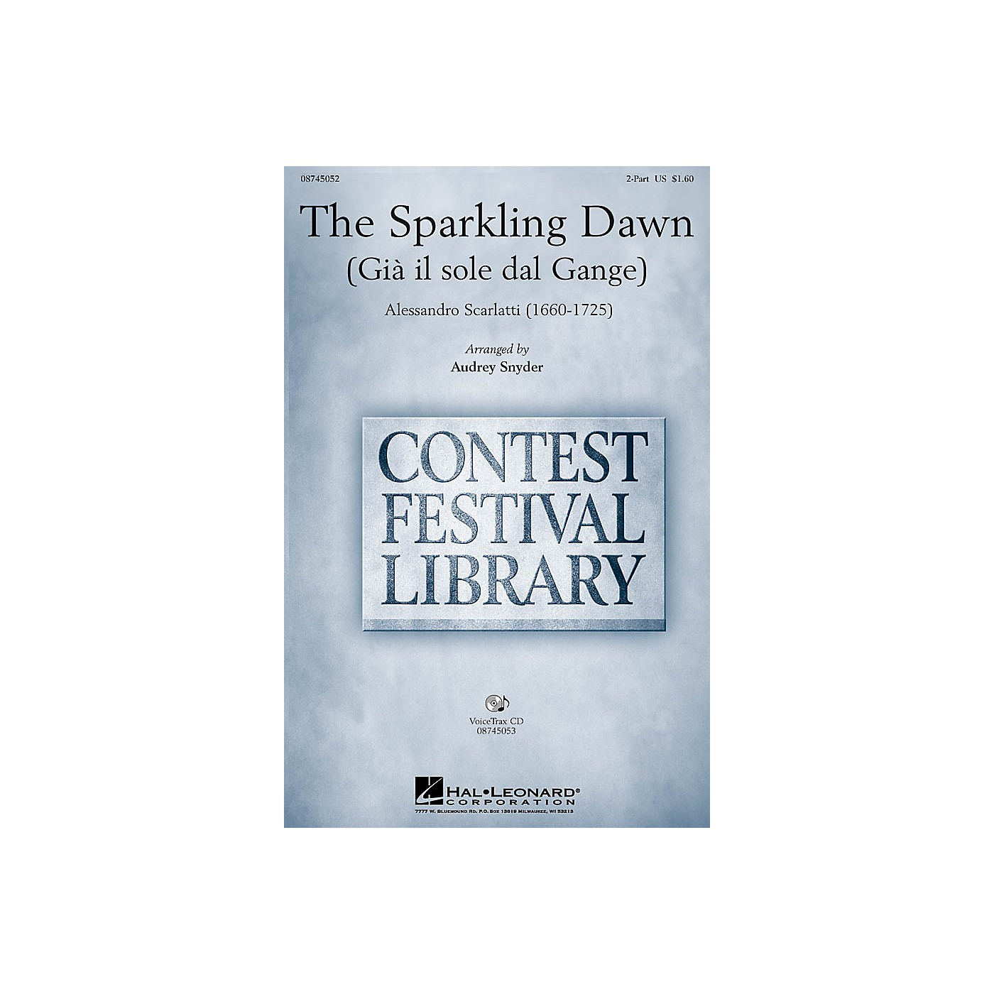 Hal Leonard The Sparkling Dawn (Gia il sole dal gange) 2-Part arranged by Audrey Snyder thumbnail