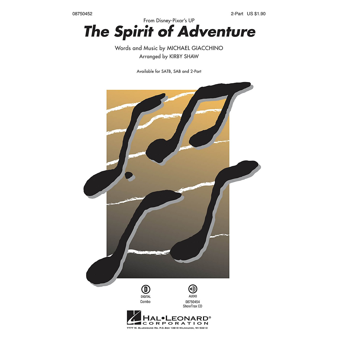 Hal Leonard The Spirit of Adventure (from Up) 2-Part arranged by Kirby Shaw thumbnail
