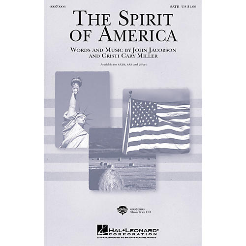 Hal Leonard The Spirit of America 2-Part Composed by Cristi Cary Miller, John Jacobson thumbnail