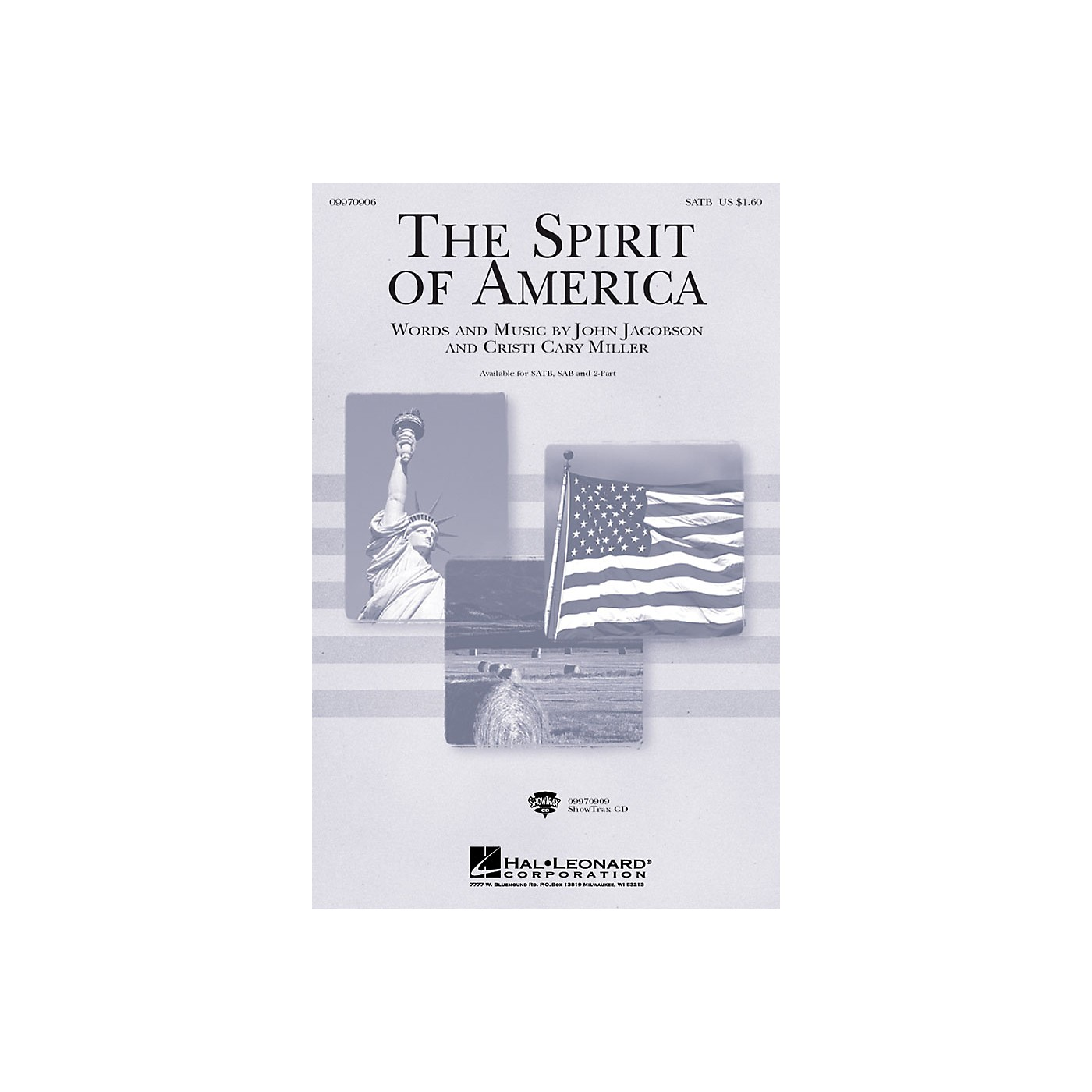 Hal Leonard The Spirit of America ShowTrax CD Composed by Cristi Cary Miller, John Jacobson thumbnail