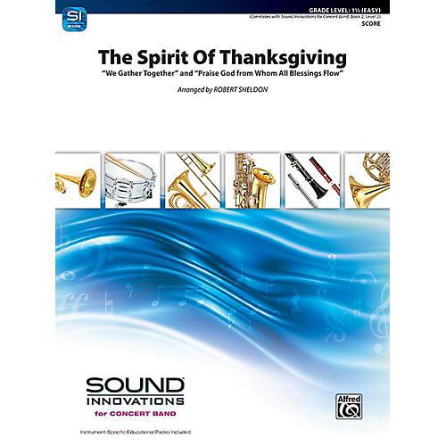 Alfred The Spirit of Thanksgiving Concert Band Grade 1.5 Set thumbnail