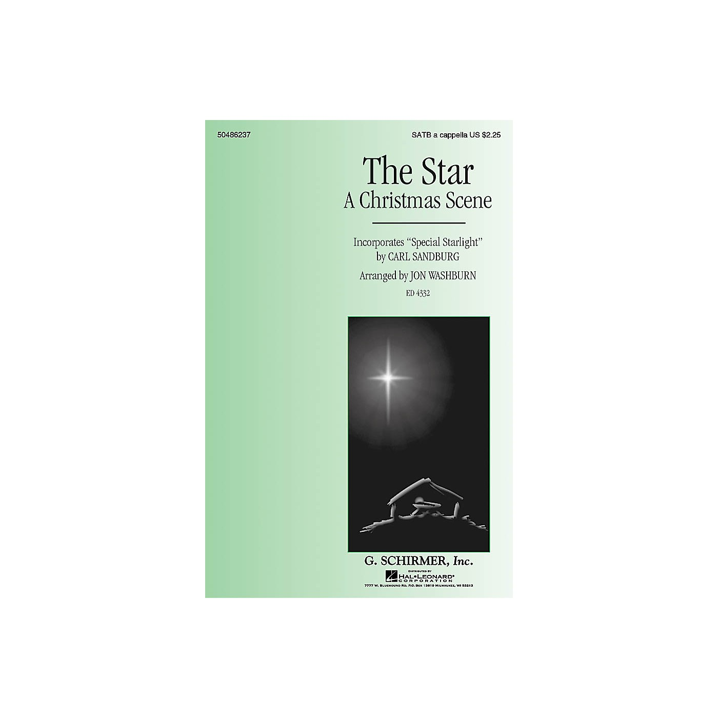 G. Schirmer The Star (A Christmas Scene) - Incorporates Special Starlight SATB a cappella by Jon Washburn thumbnail