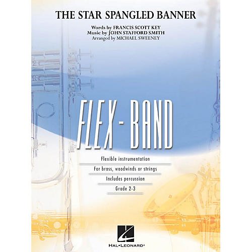 Hal Leonard The Star Spangled Banner Concert Band Level 2-3 Arranged by Michael Sweeney thumbnail
