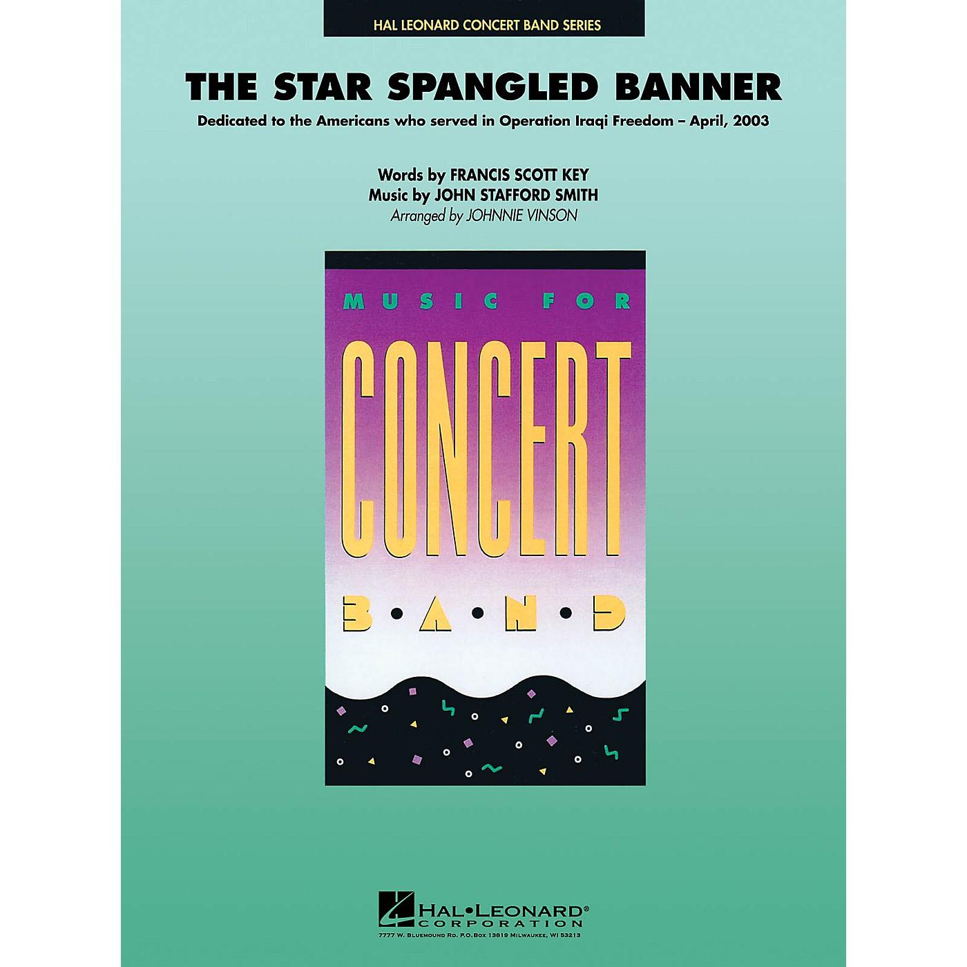 Hal Leonard The Star Spangled Banner Concert Band Level 4 Arranged by Johnnie Vinson thumbnail