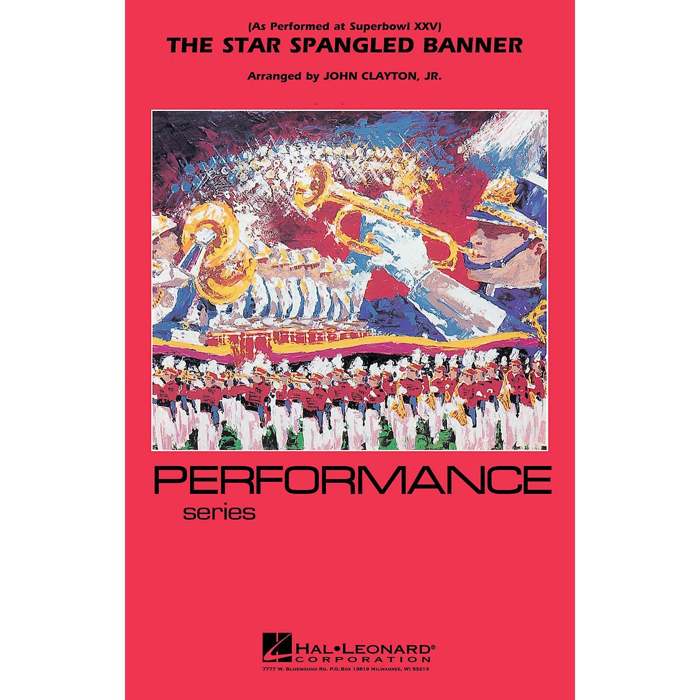 Hal Leonard The Star Spangled Banner (Whitney Houston version) Marching Band Level 3 Arranged by John Clayton thumbnail