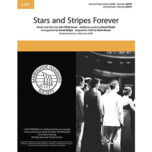 Barbershop Harmony Society The Stars and Stripes Forever SATB a cappella arranged by David Wright thumbnail