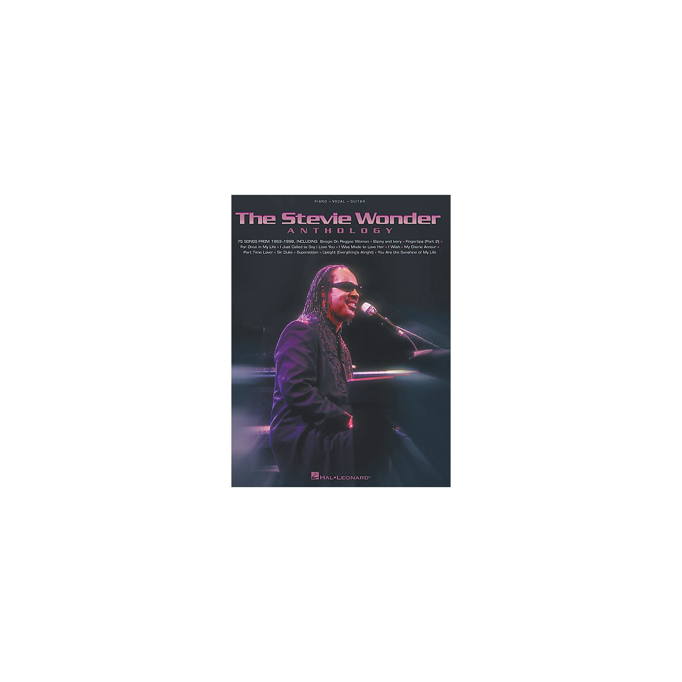Hal Leonard The Stevie Wonder Anthology Piano, Vocal, Guitar Songbook thumbnail