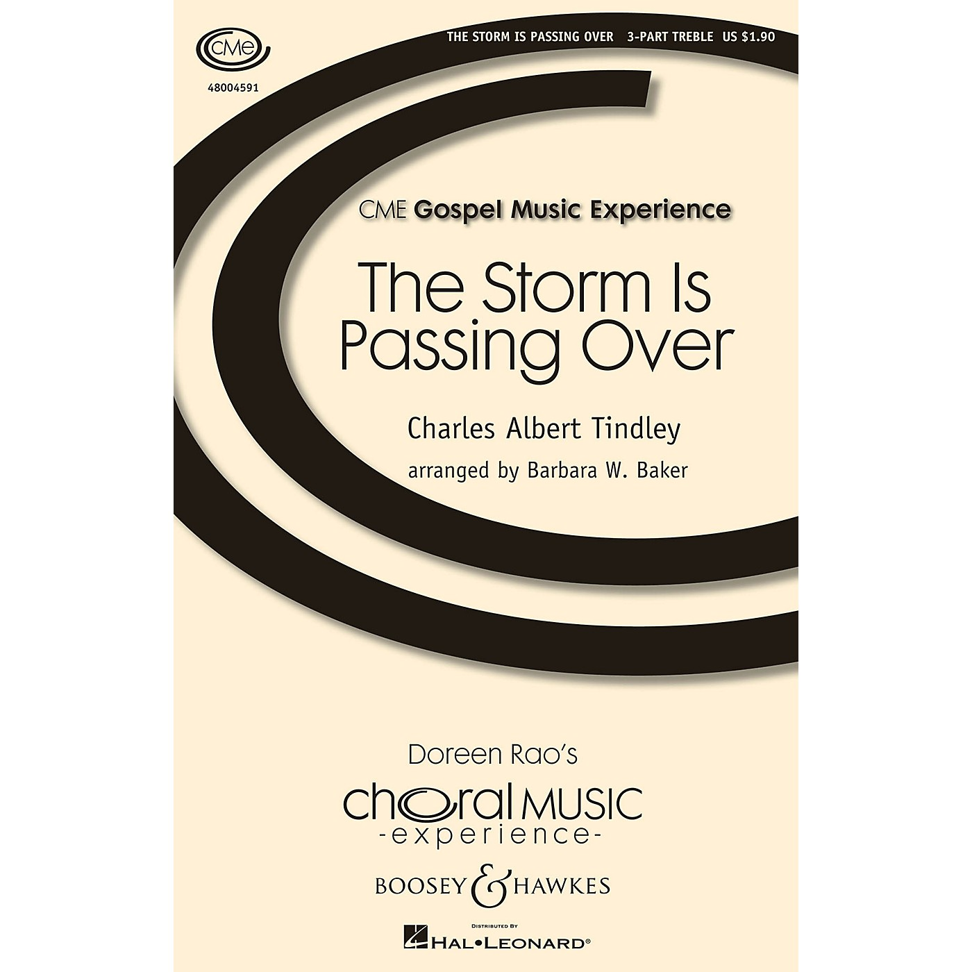 Boosey and Hawkes The Storm Is Passing Over 3 Part Treble composed by Charles Tindley arranged by Barbara Baker thumbnail