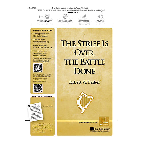 Jubal House Publications The Strife Is Over, the Battle Done BRASS/PERCUSSION PARTS Composed by Robert W. Parker thumbnail