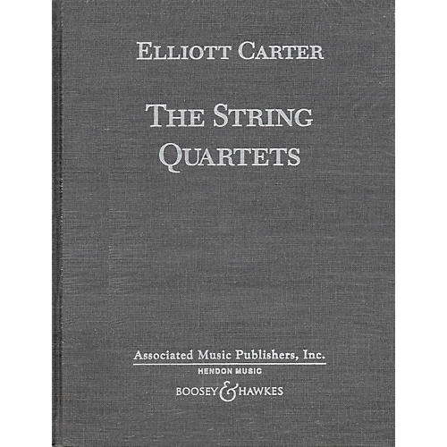 Boosey and Hawkes The String Quartets (Complete in Hardbound) Boosey & Hawkes Scores/Books Series by Elliott Carter thumbnail
