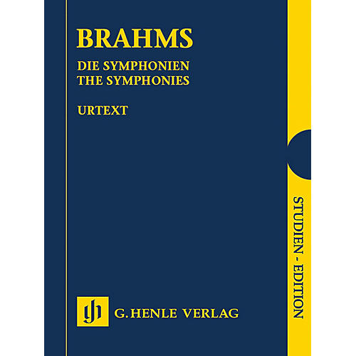 G. Henle Verlag The Symphonies Henle Study Scores Series Hardcover Composed by Johannes Brahms Edited by Michael Struck thumbnail