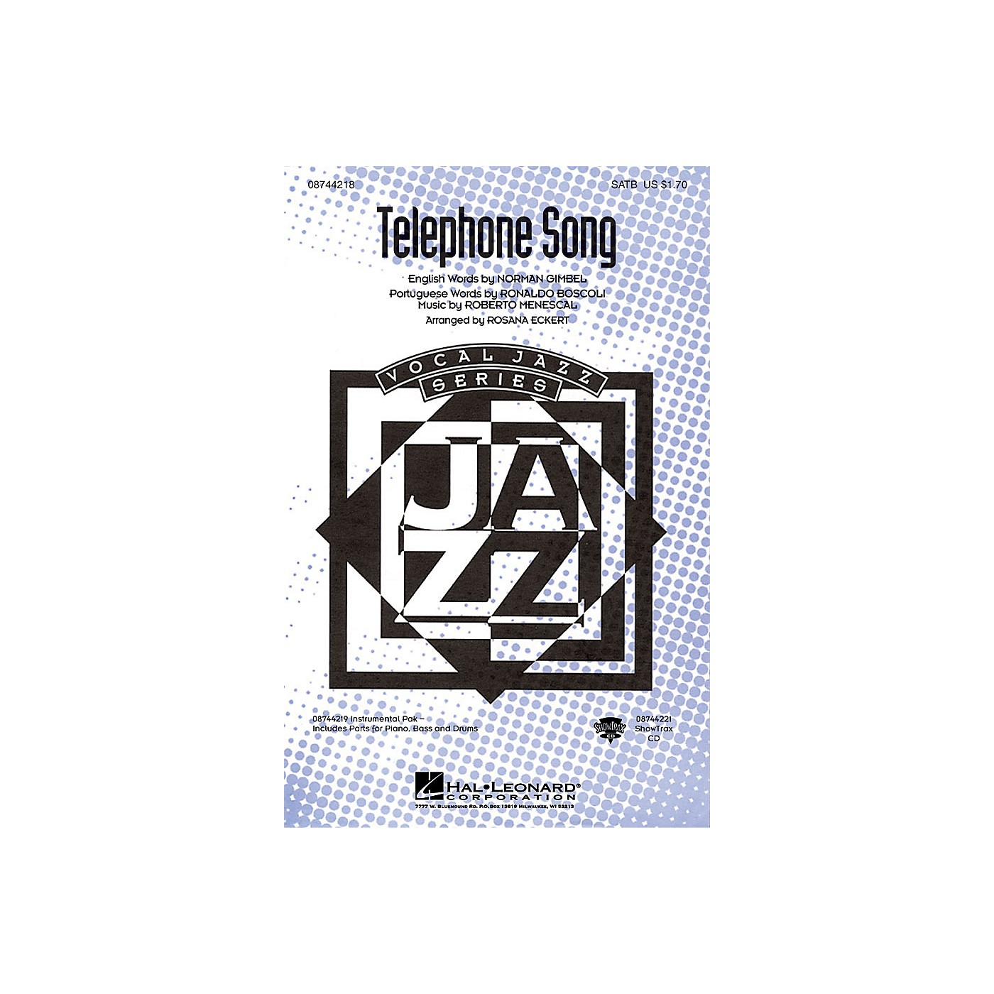 Hal Leonard The Telephone Song SATB arranged by Rosana Eckert thumbnail