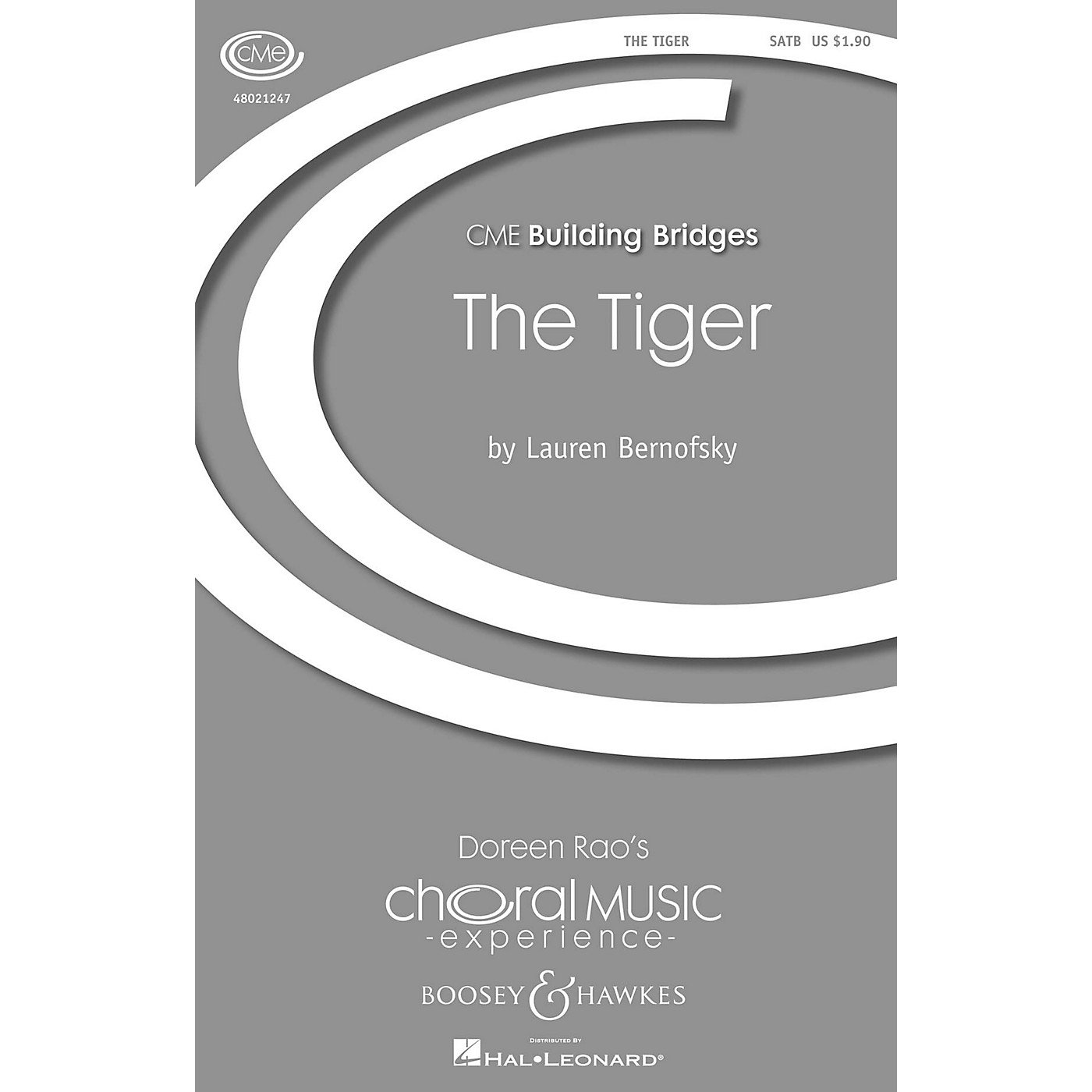 Boosey and Hawkes The Tiger (CME Building Bridges) SATB composed by Lauren Bernofsky thumbnail