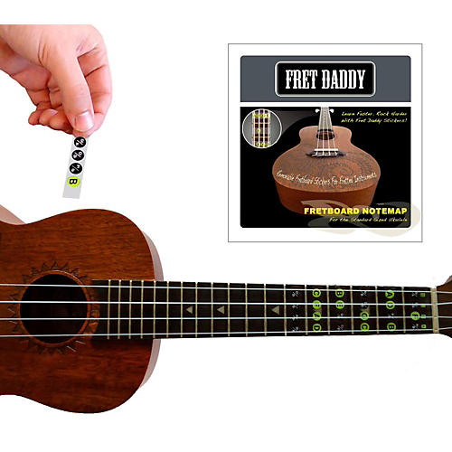 Fret Daddy The Ukulele Fretboard Note Map thumbnail
