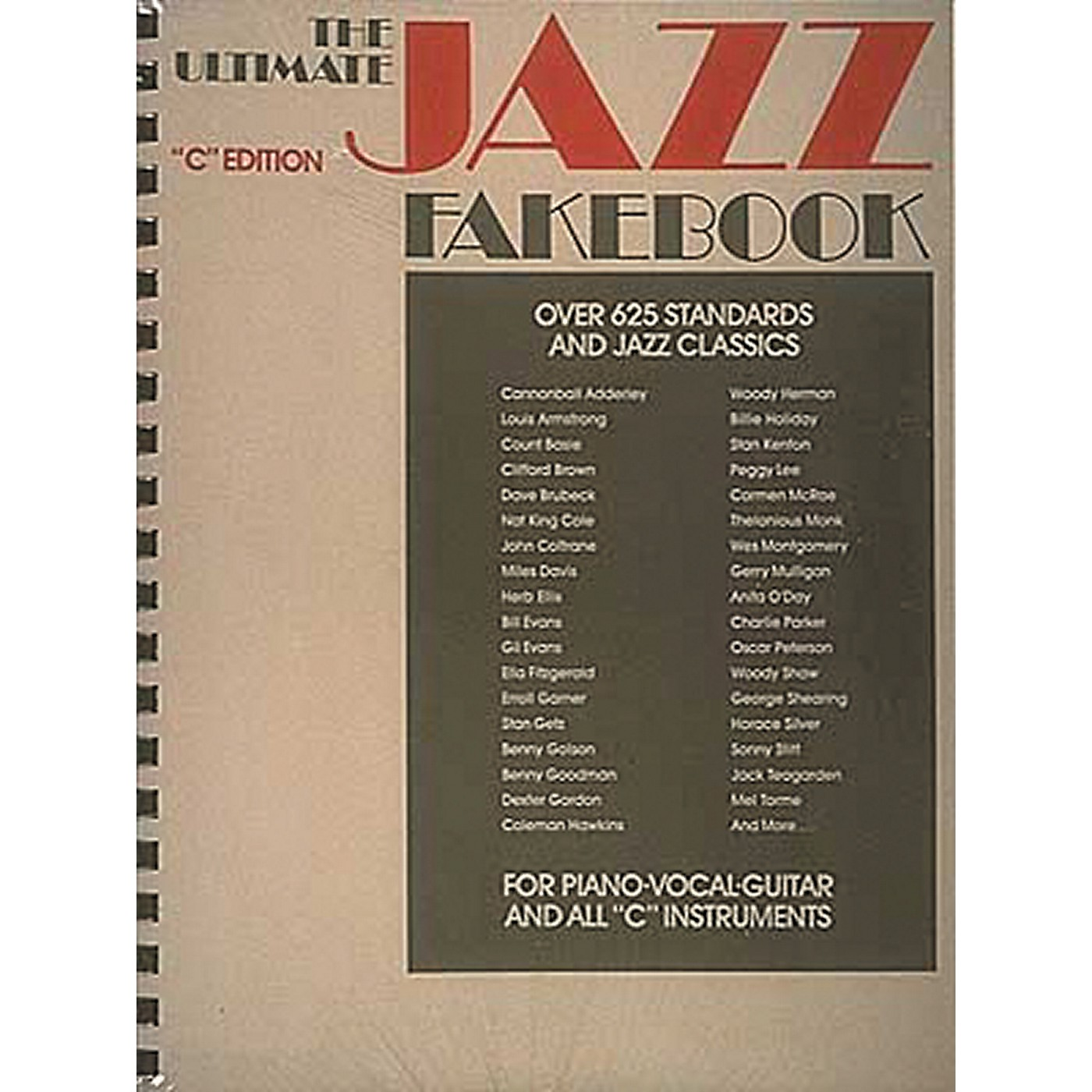 Hal Leonard The Ultimate Jazz Fake Book for Piano, Guitar, and Vocals thumbnail