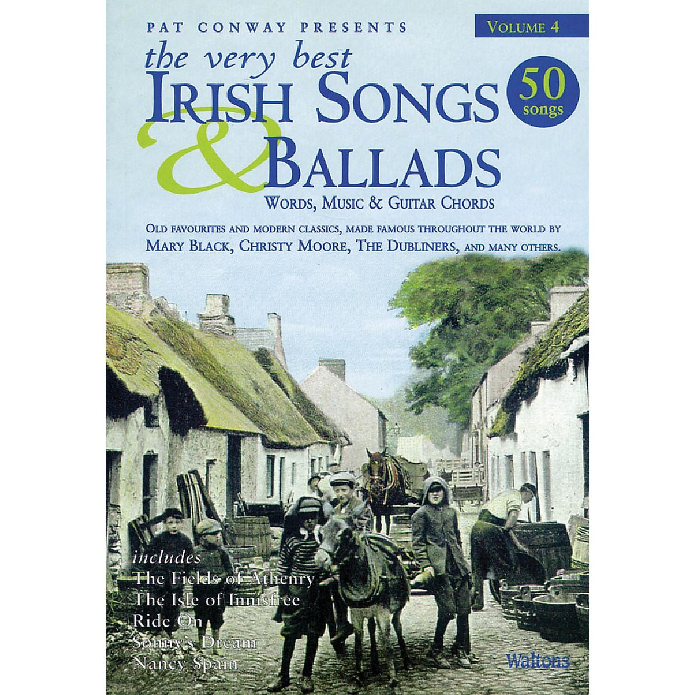 Waltons The Very Best Irish Songs & Ballads - Volume 4 Waltons Irish Music Books Series Softcover thumbnail