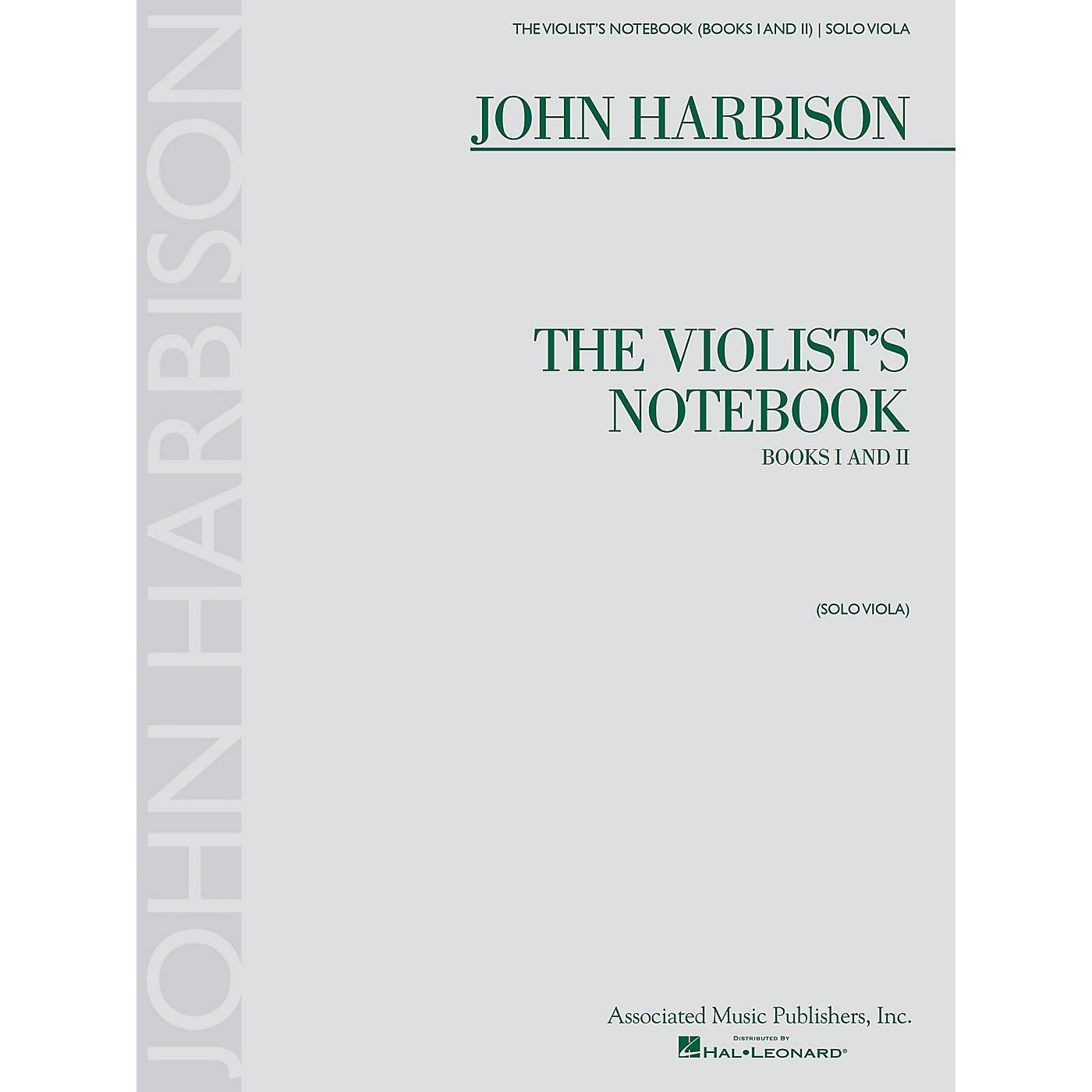 Associated The Violist's Notebook (Books I and II) String Series Softcover Composed by John Harbison thumbnail