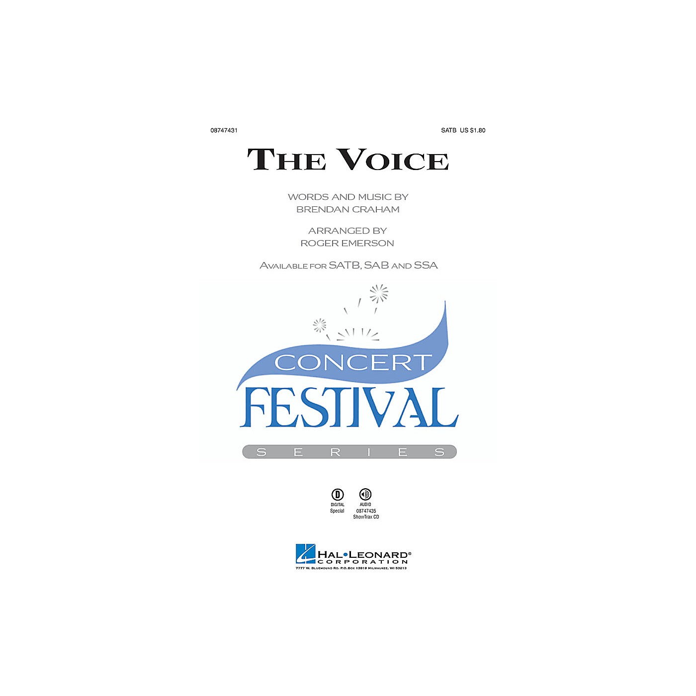 Hal Leonard The Voice SATB arranged by Roger Emerson thumbnail