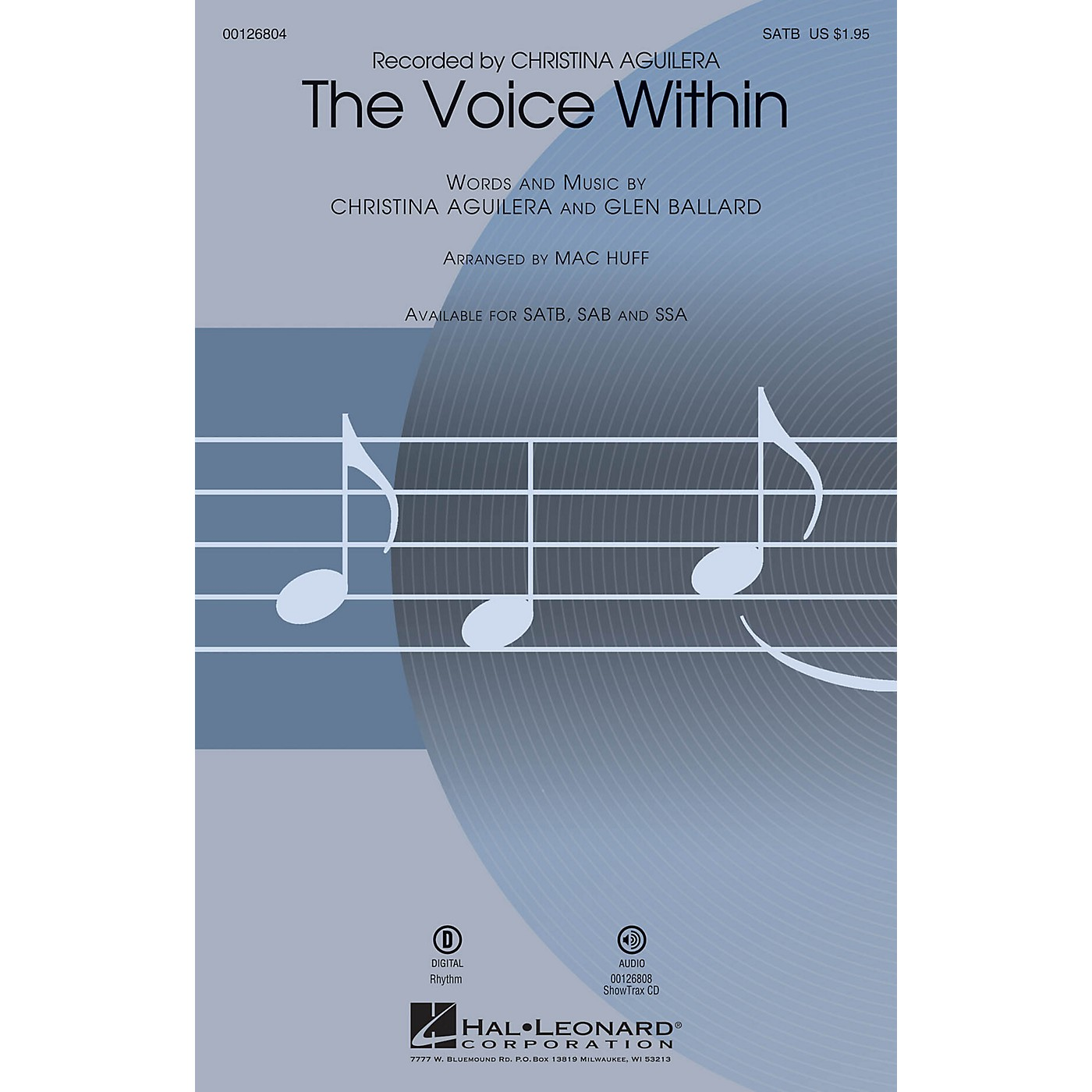 Hal Leonard The Voice Within SAB by Christina Aguilera Arranged by Mac Huff thumbnail