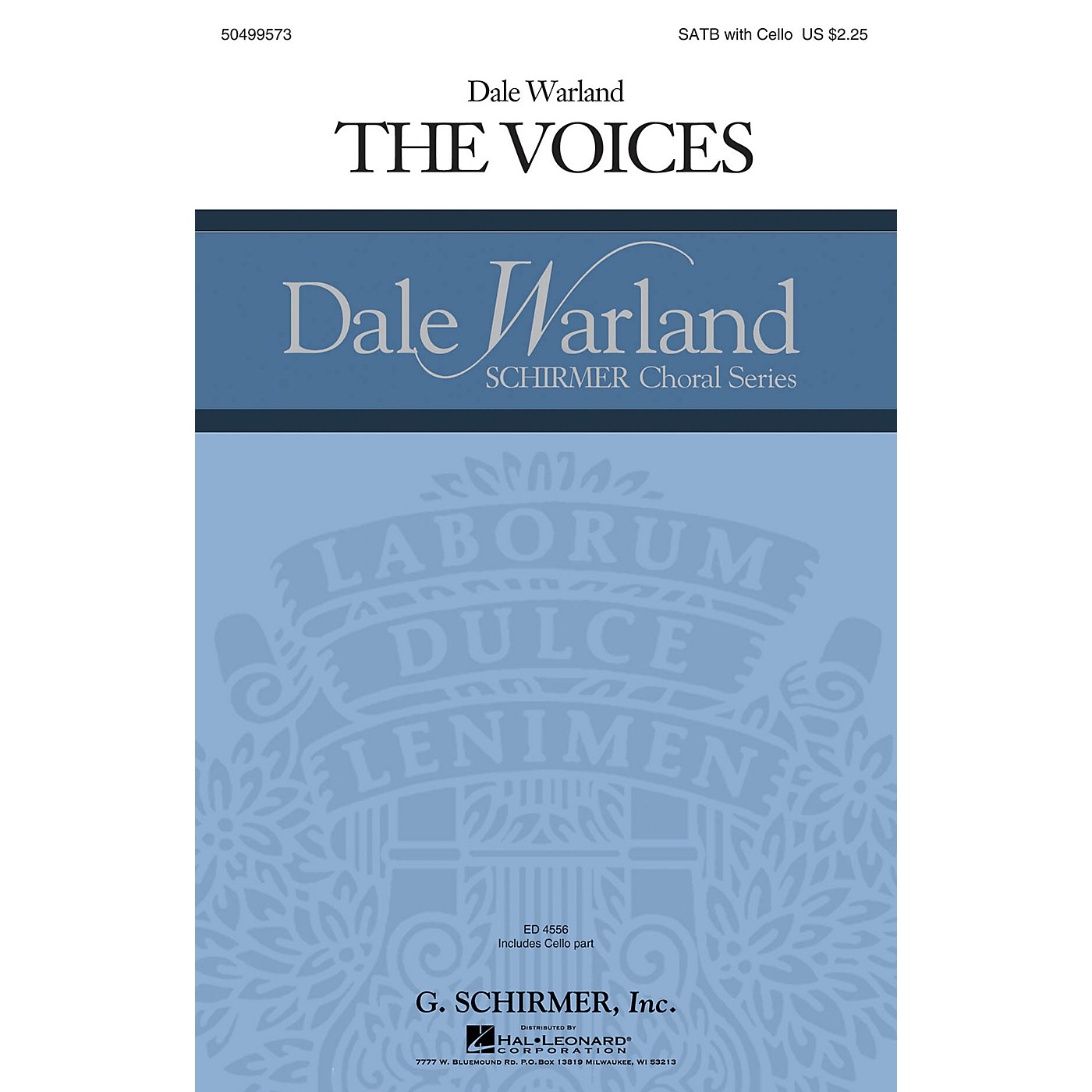 G. Schirmer The Voices (Dale Warland Choral Series) SATB with Cello composed by Dale Warland thumbnail
