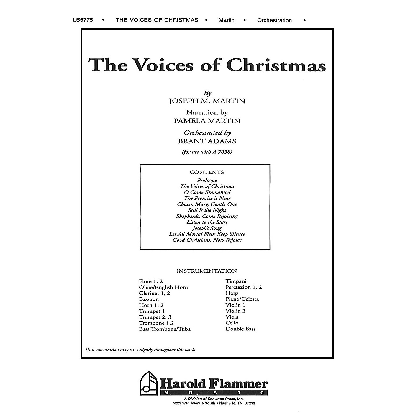 Shawnee Press The Voices of Christmas Score & Parts thumbnail
