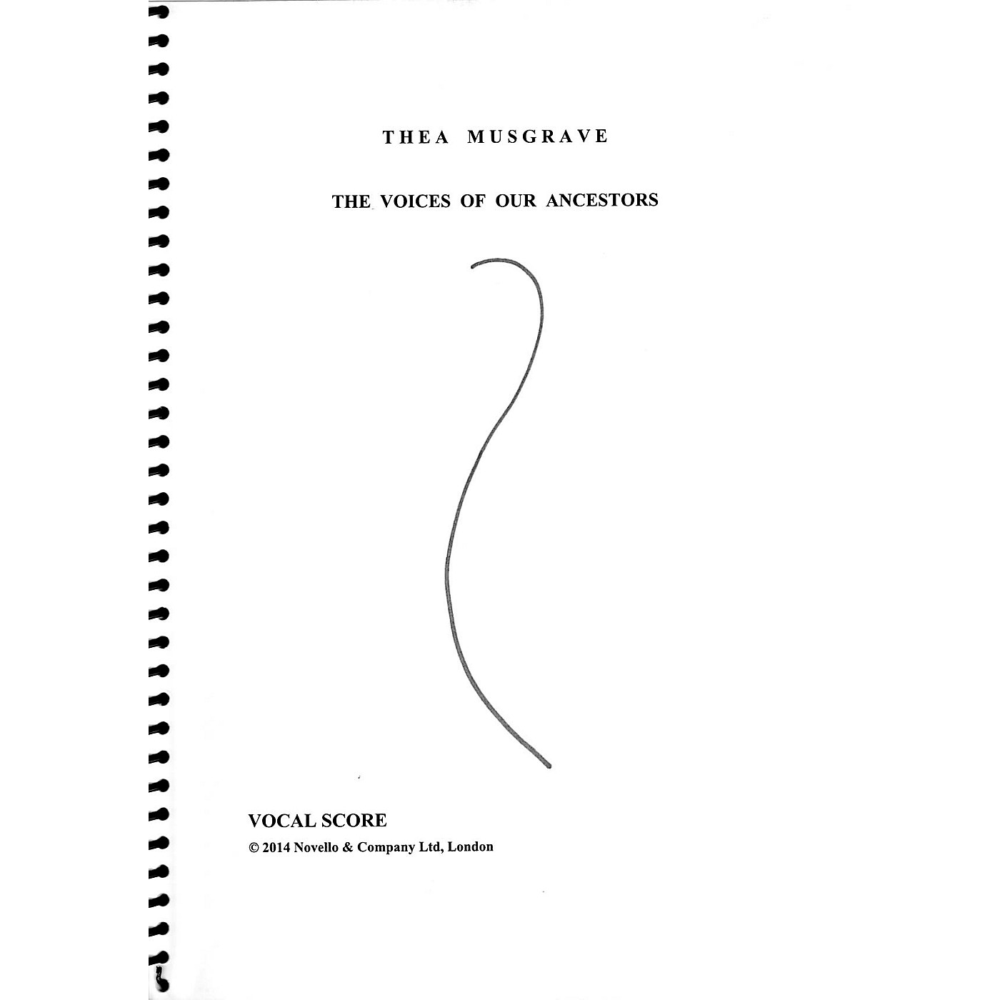 Novello The Voices of Our Ancestors (for SATB chorus, brass quintet and organ) SATB Score by Thea Musgrave thumbnail
