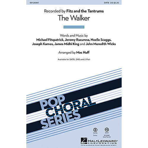 Hal Leonard The Walker ShowTrax CD by Fitz and the Tantrums Arranged by Mac Huff thumbnail