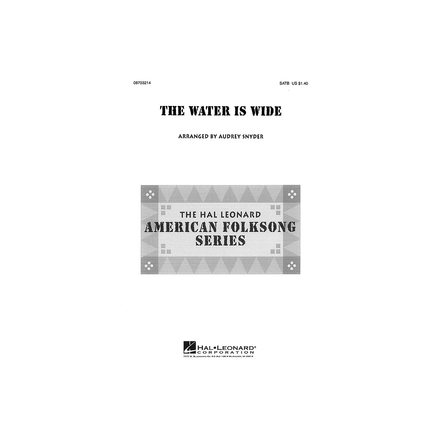 Hal Leonard The Water Is Wide SAB Arranged by Audrey Snyder thumbnail