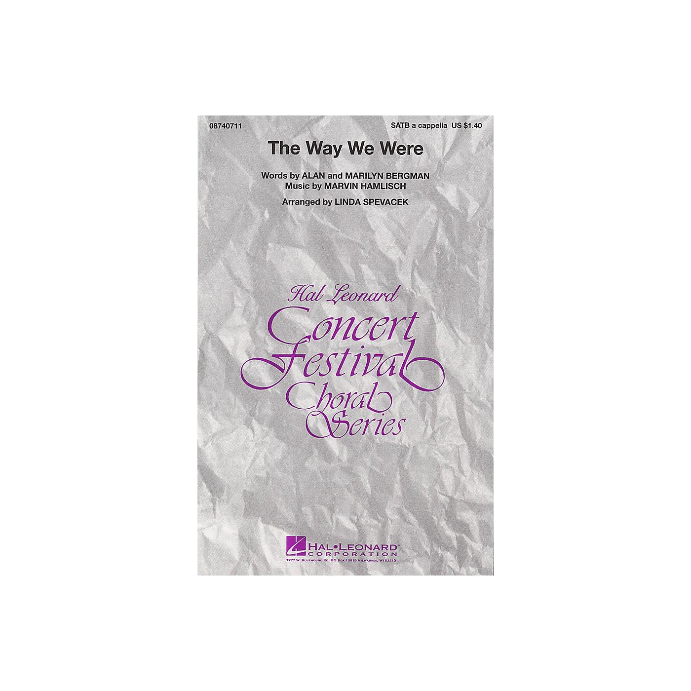 Hal Leonard The Way We Were SATB a cappella by Barbra Streisand arranged by Linda Spevacek thumbnail