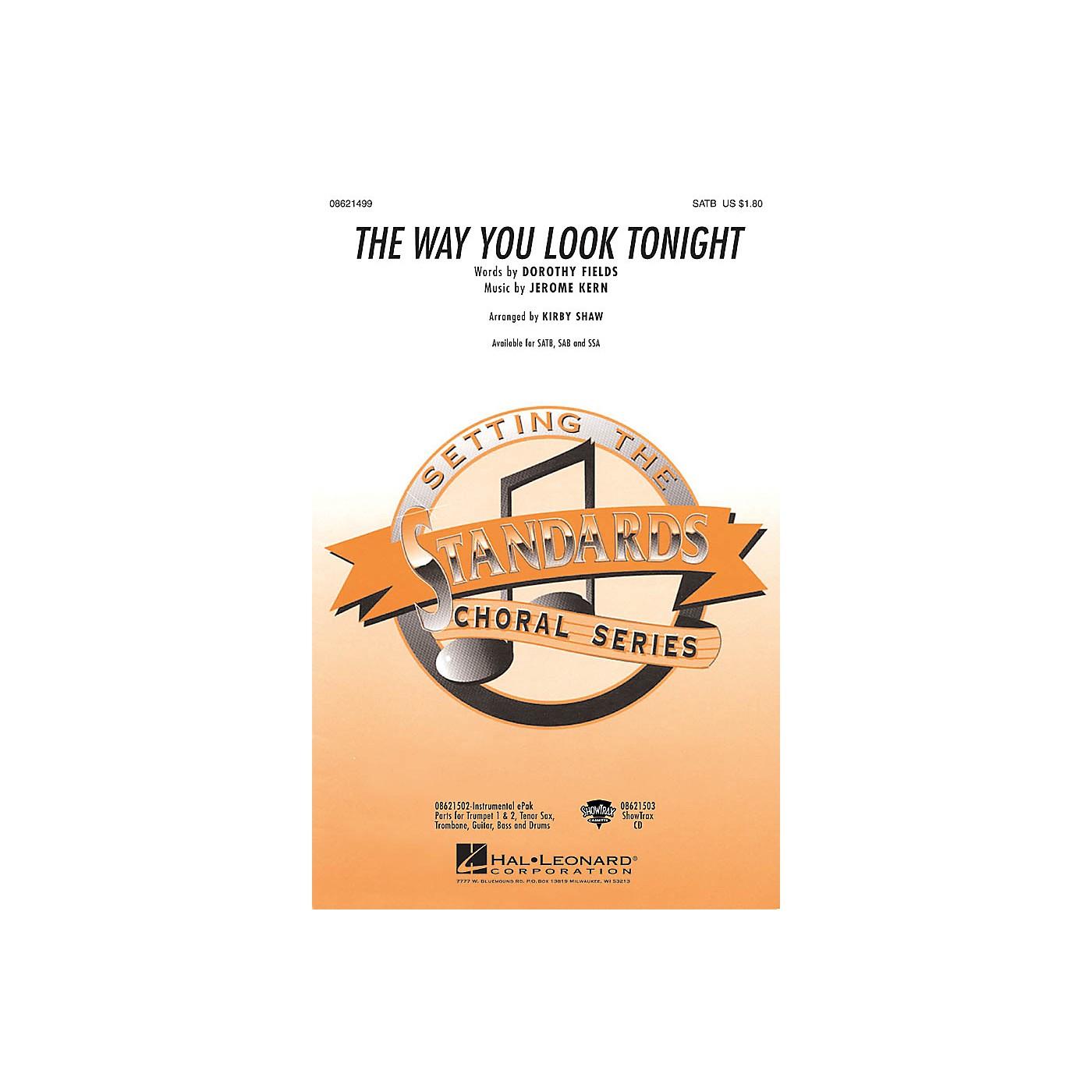 Hal Leonard The Way You Look Tonight SSA Arranged by Kirby Shaw thumbnail