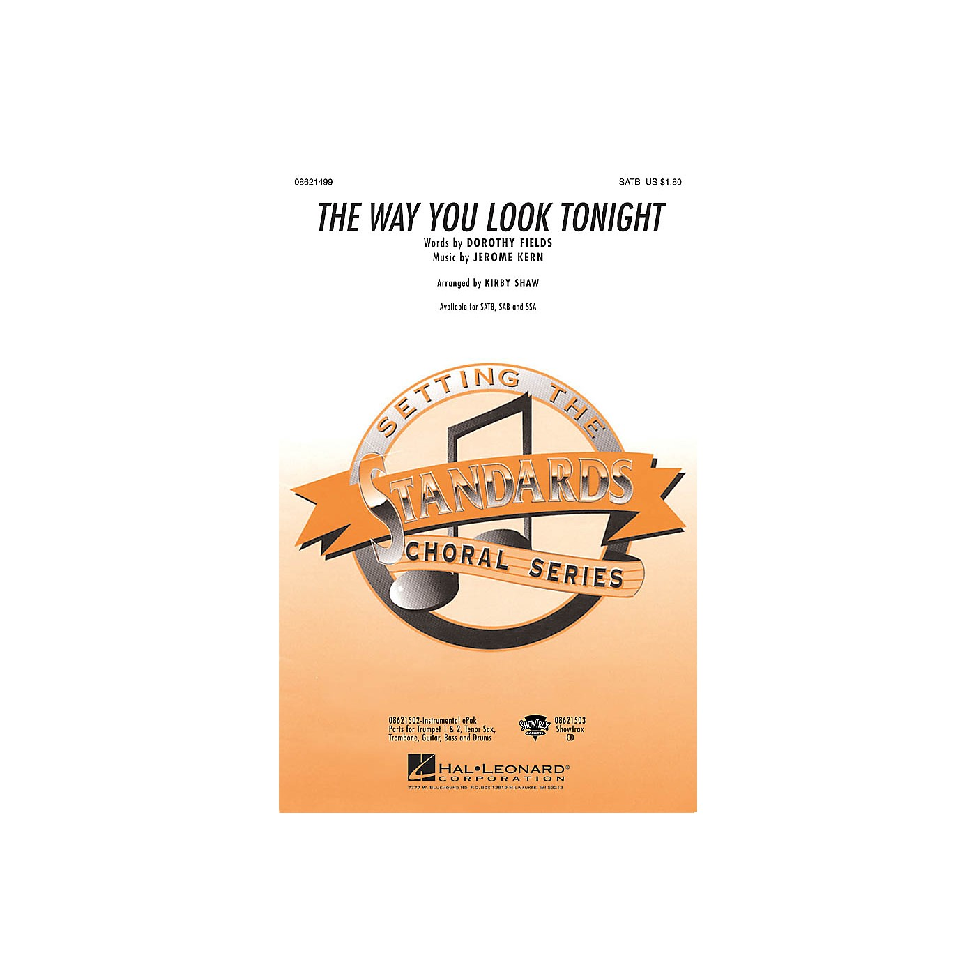 Hal Leonard The Way You Look Tonight ShowTrax CD Arranged by Kirby Shaw thumbnail