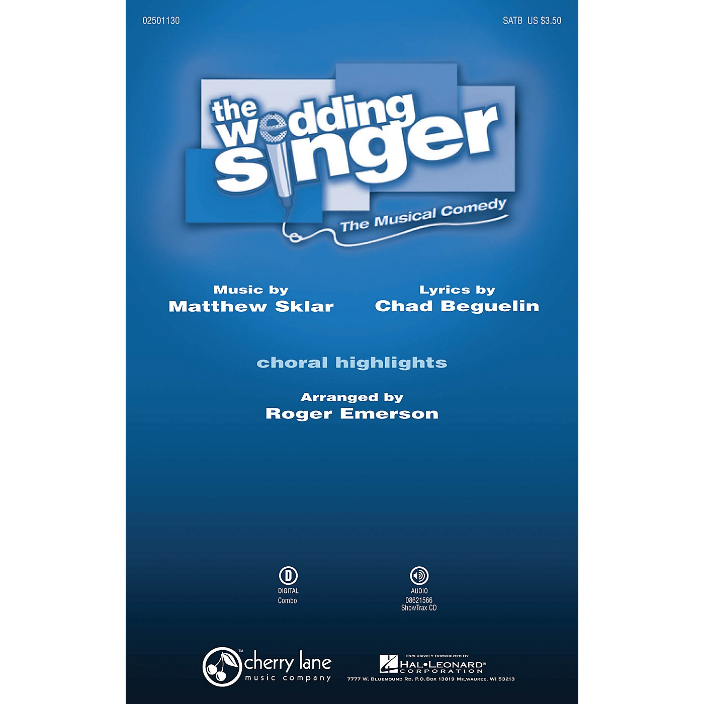 Cherry Lane The Wedding Singer (Choral Highlights) SATB arranged by Roger Emerson thumbnail