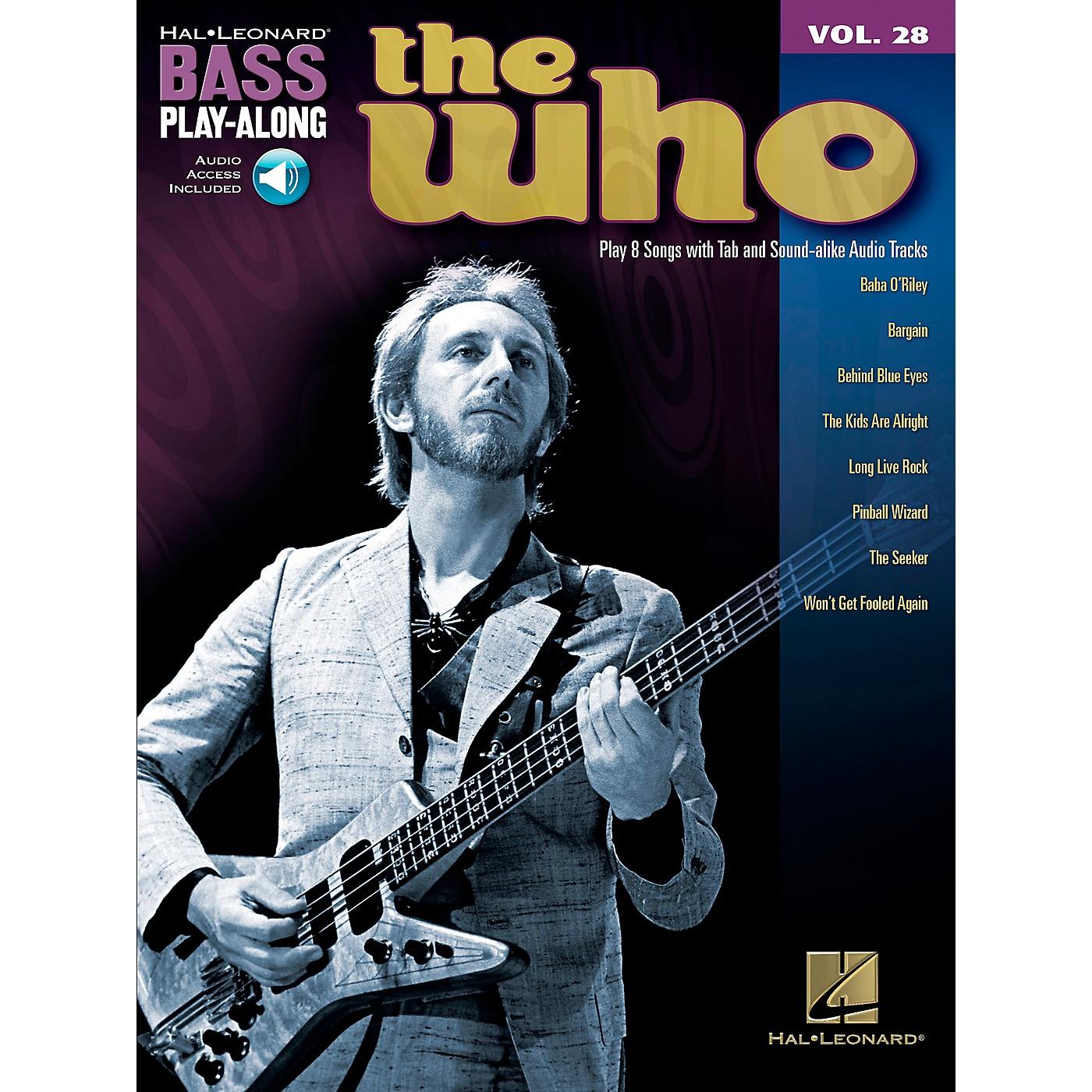 Hal Leonard The Who Bass Play-Along Volume 28 BK/CD thumbnail