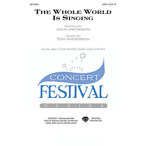 Hal Leonard The Whole World Is Singing 2-Part Composed by John Jacobson thumbnail