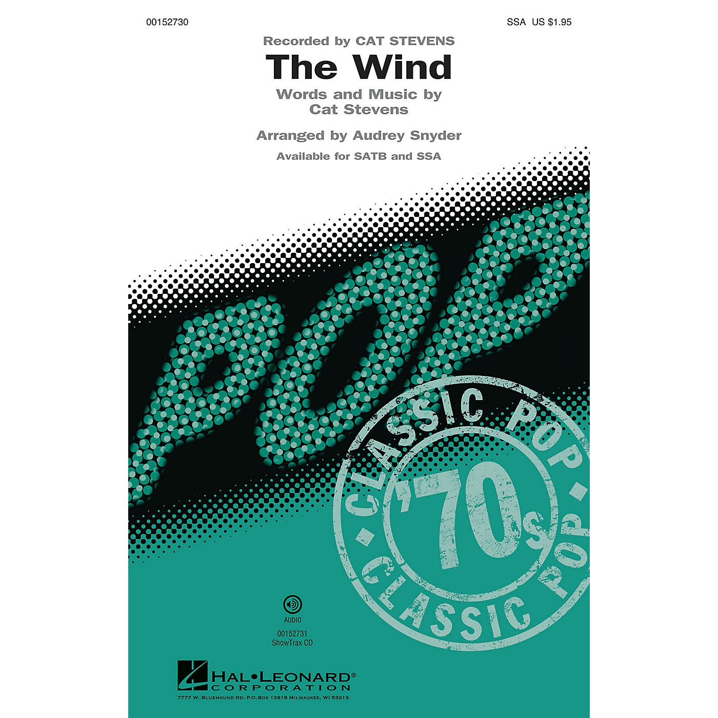 Hal Leonard The Wind SSA by Cat Stevens arranged by Audrey Snyder thumbnail