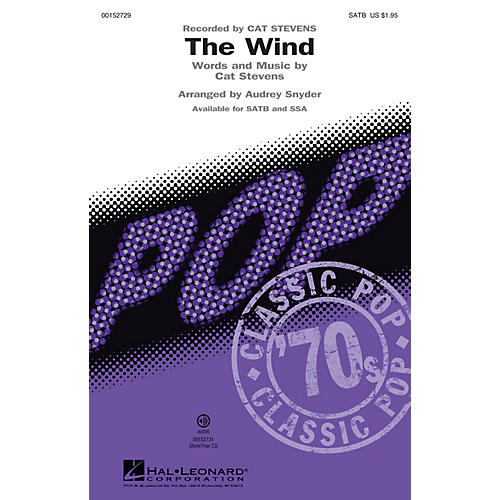 Hal Leonard The Wind ShowTrax CD by Cat Stevens Arranged by Audrey Snyder thumbnail