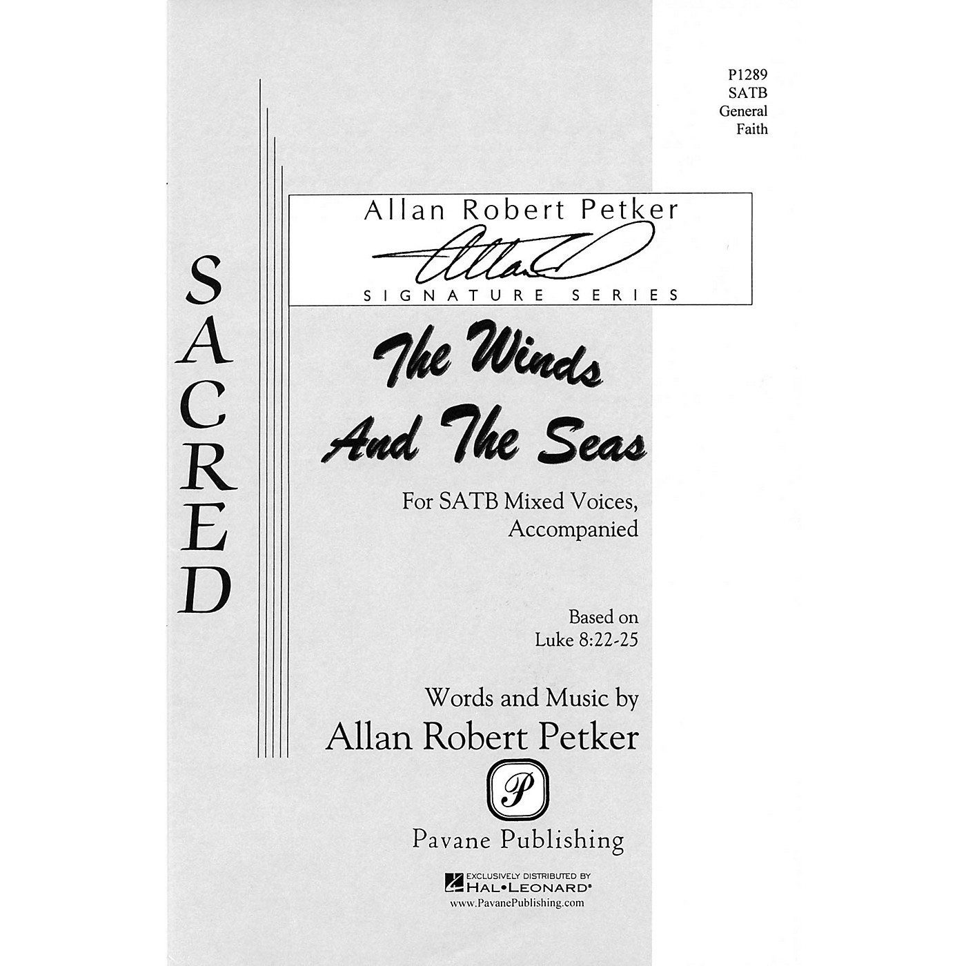 Pavane The Winds and the Seas SATB composed by Allan Robert Petker thumbnail