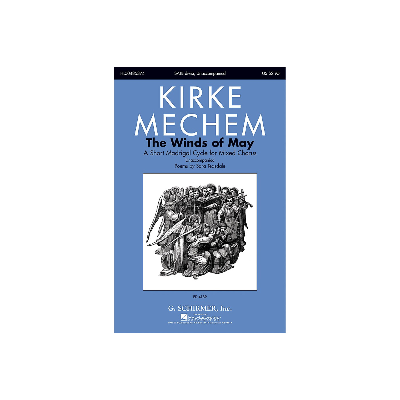 G. Schirmer The Winds of May (A Short Madrigal Cycle for Mixed Chorus) SATB composed by Kirke Mechem thumbnail