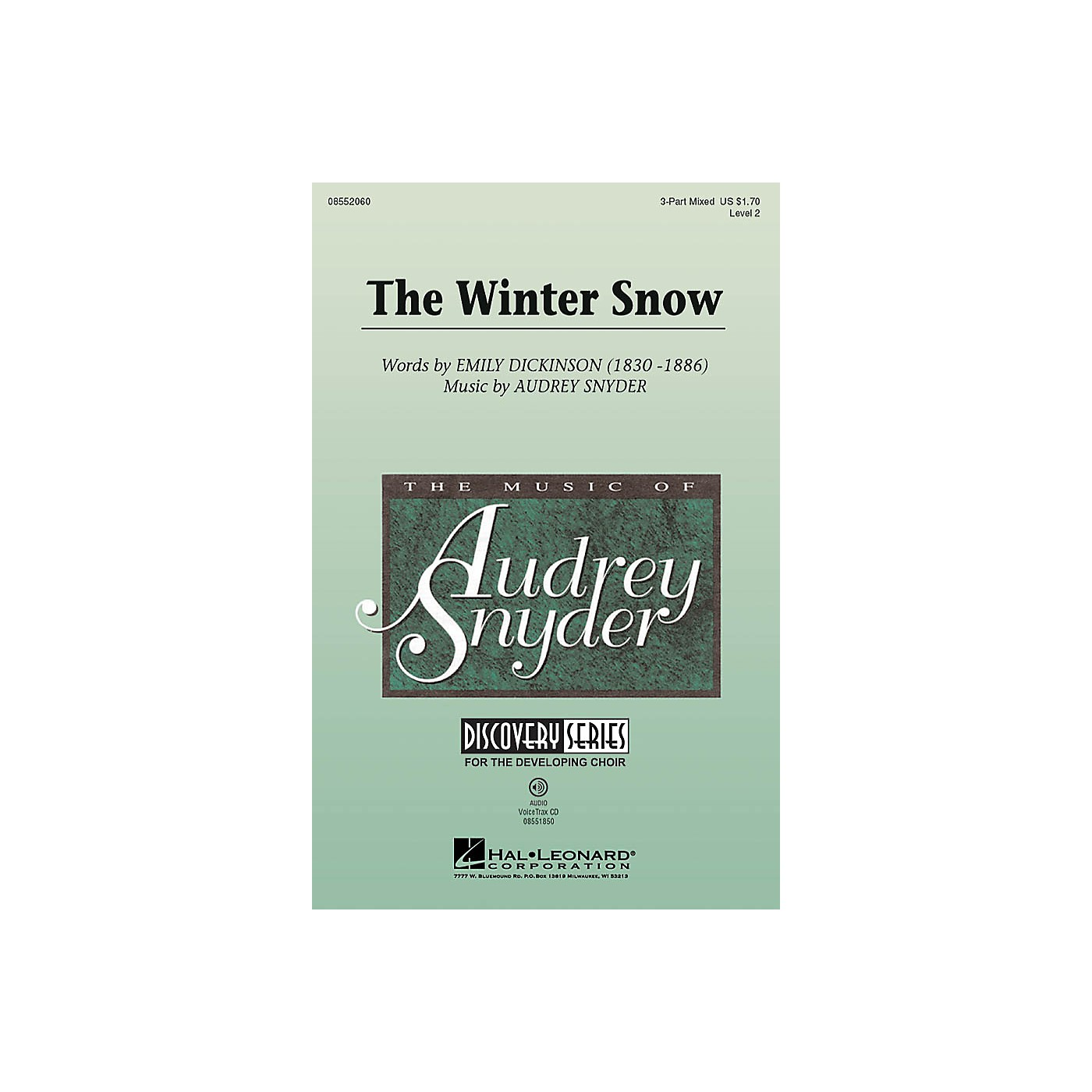 Hal Leonard The Winter Snow (Discovery Level 2) 2-Part Composed by Audrey Snyder thumbnail