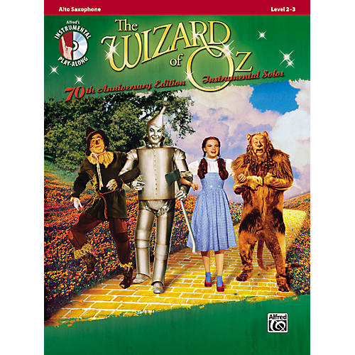 Alfred The Wizard of Oz 70th Anniversary Edition Instrumental Solos: Alto Sax (Songbook/CD)-thumbnail