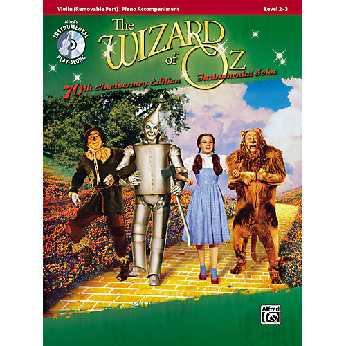 Alfred The Wizard of Oz 70th Anniversary Edition Instrumental Solos: Violin (Songbook/CD)-thumbnail