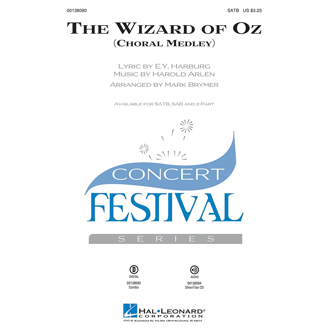 Hal Leonard The Wizard of Oz (Choral Medley) ShowTrax CD Arranged by Mark Brymer thumbnail