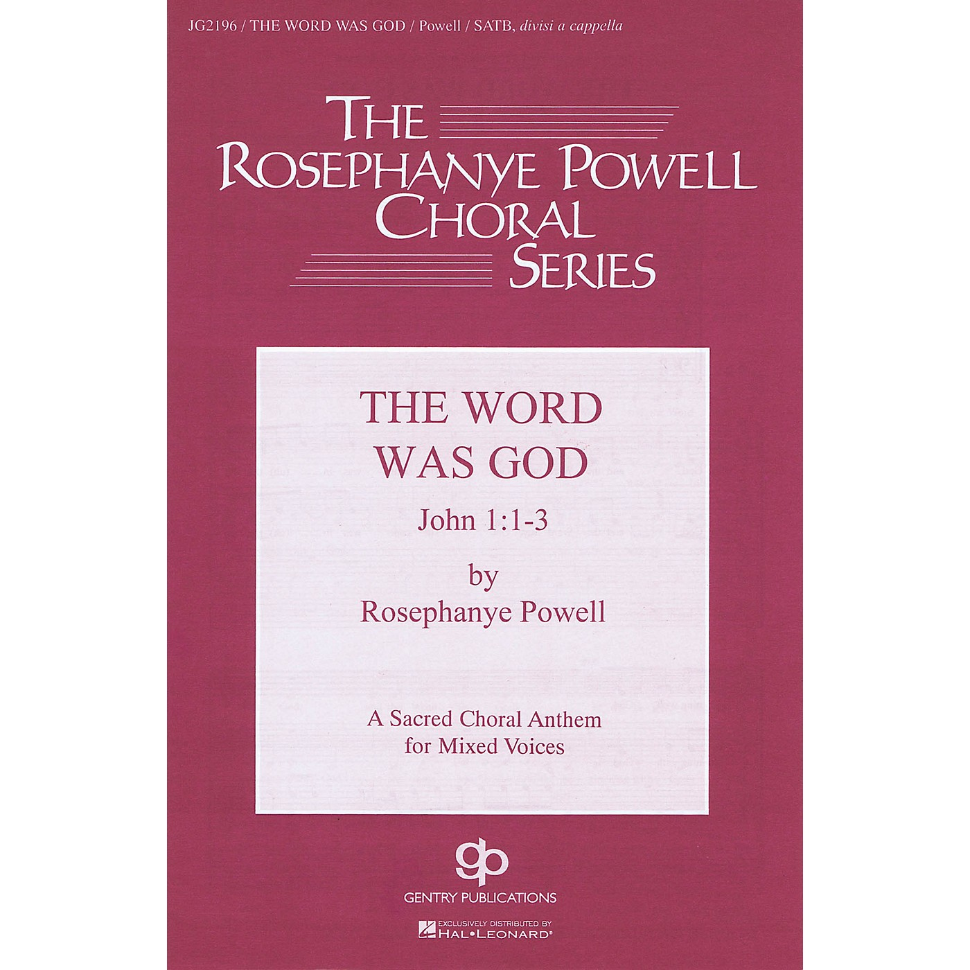 Fred Bock Music The Word Was God SATB DV A Cappella composed by Rosephanye Powell thumbnail