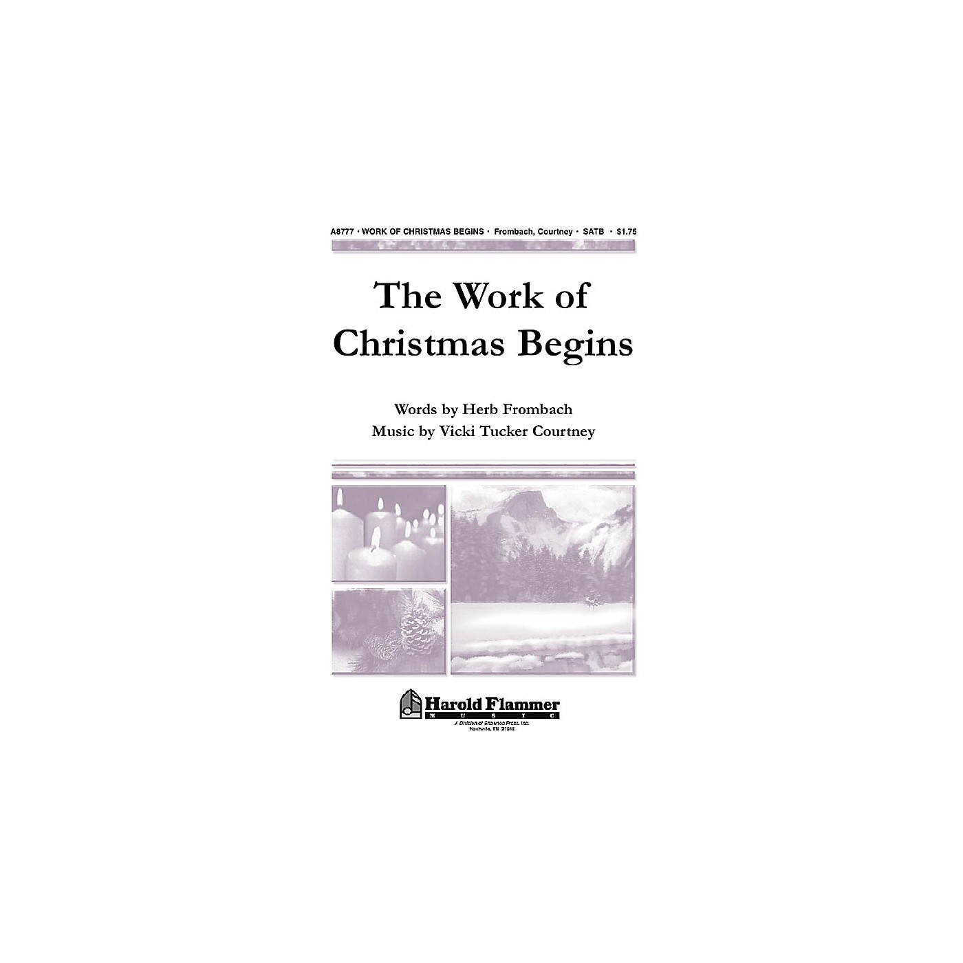 Shawnee Press The Work of Christmas Begins SATB composed by Vicki Tucker Courtney thumbnail