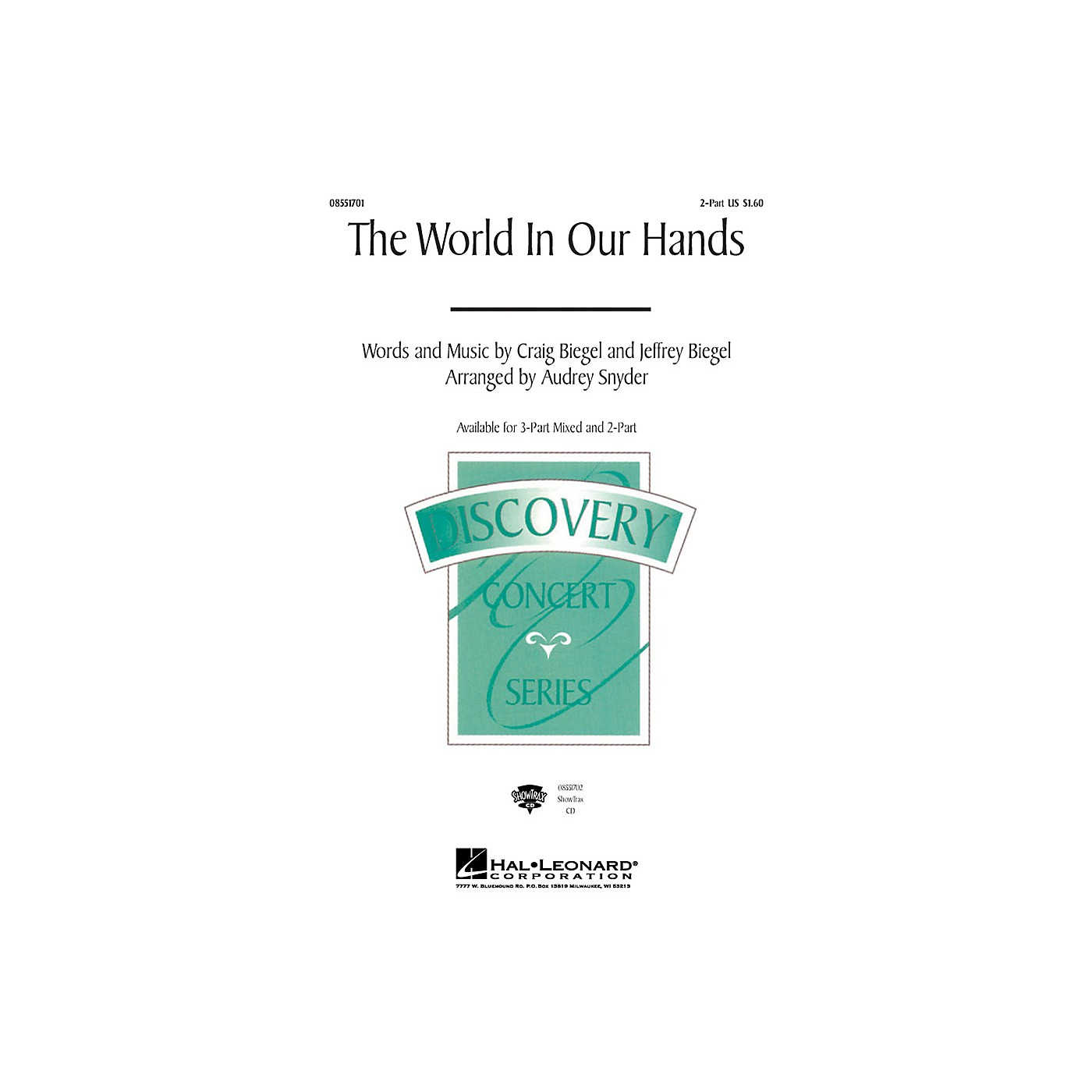 Hal Leonard The World in Our Hands 2-Part arranged by Audrey Snyder thumbnail