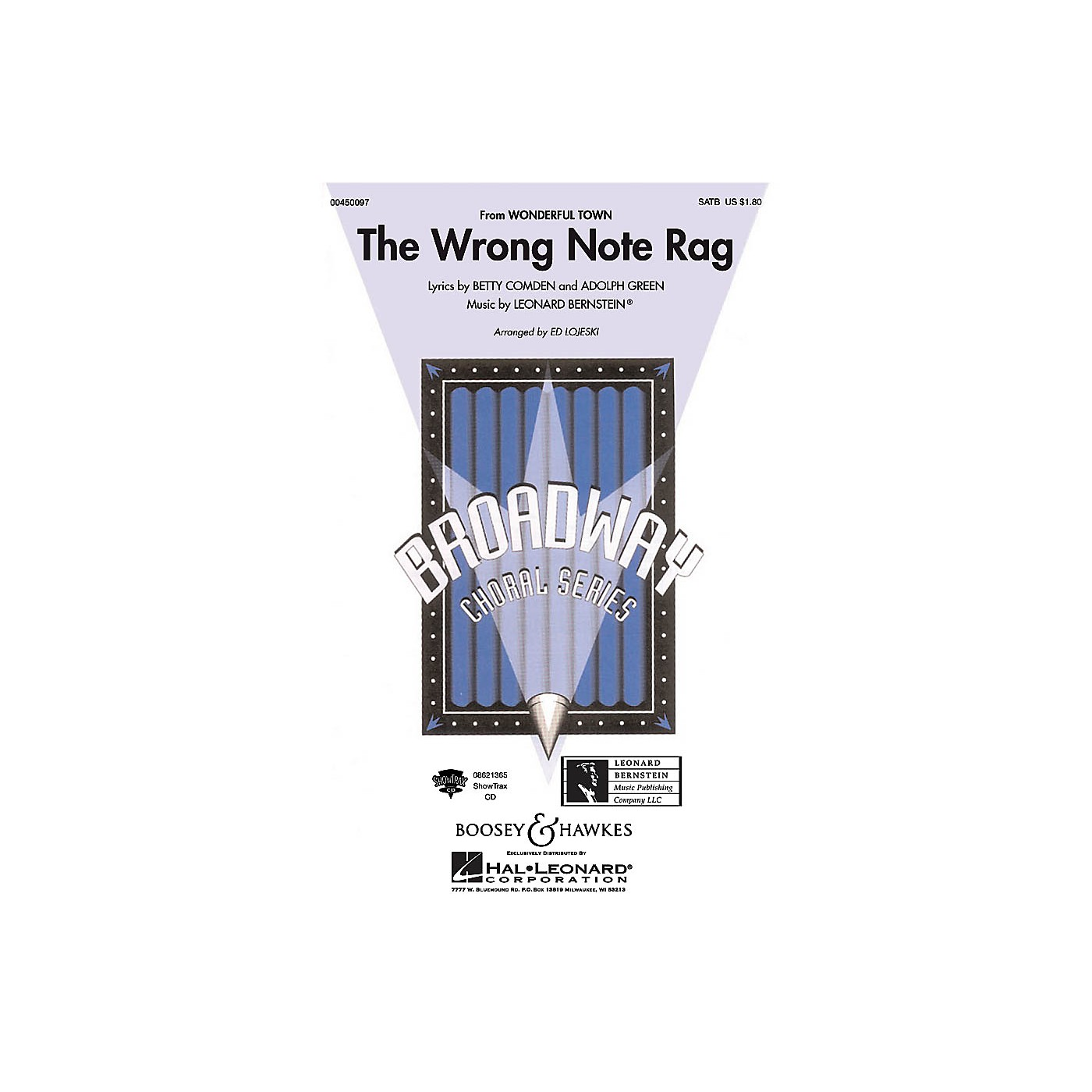 Hal Leonard The Wrong Note Rag (from Wonderful Town) SAB Arranged by Ed Lojeski thumbnail