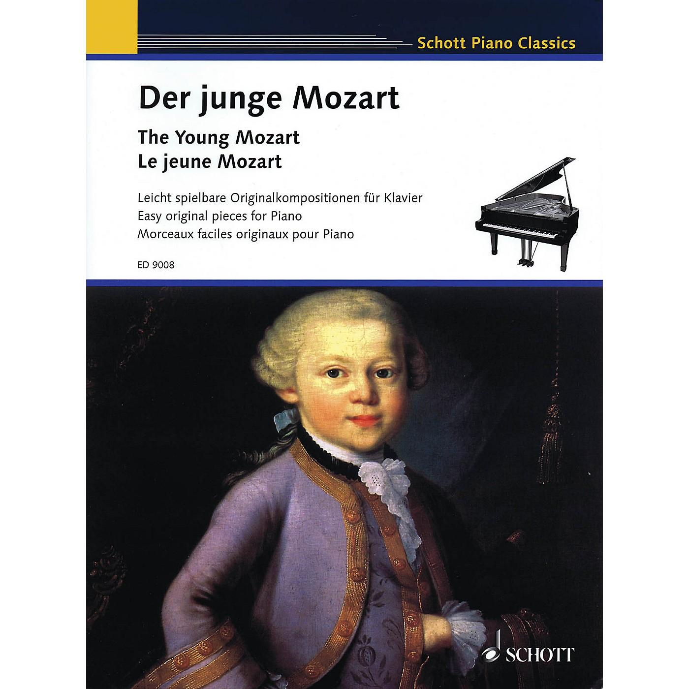 Schott The Young Mozart - Easy Original Pieces for Piano (Schott Piano Classics) Schott Series Softcover thumbnail